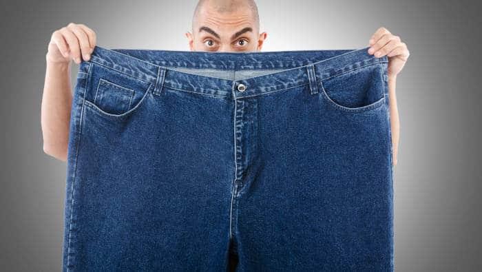 Abnehmen: viel zu große Hose