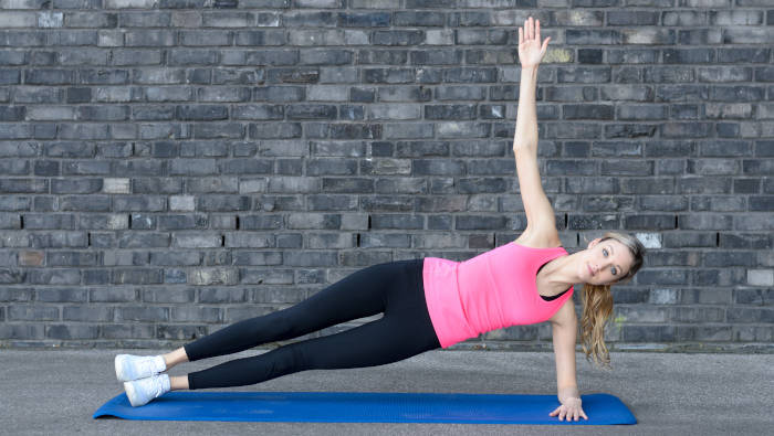 Krafttraining mit dem eigenen Körpergewicht - side plank