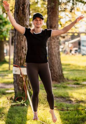 Slacklining - die Balance ist eine Frage der richtigen Körperhaltung